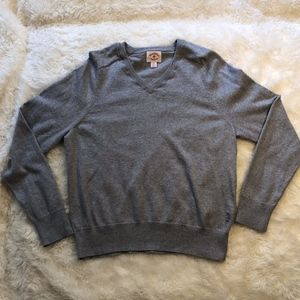 Brooks Brothers Red Fleece V Neck Sweater